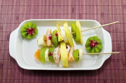brochettes fruits