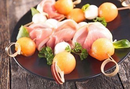 brochettes jambon