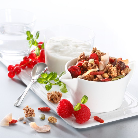 Menu minceur muesli fruits